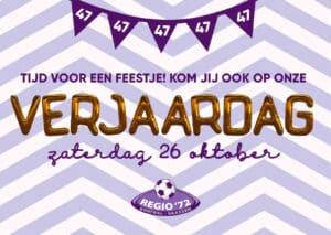 Verjaardagsfeest @ Clubhuis Regio'72